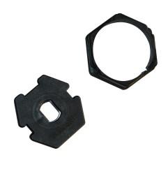 Adaptateur hexagonal 50 mm pour moteur LEC Ø 45 mm