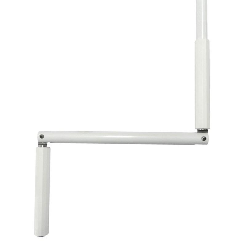 Manivelle Ø12 mm acier laqué blanc Lg 1,20 m