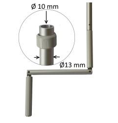 Manivelle Ø13 mm aluminium ton naturel