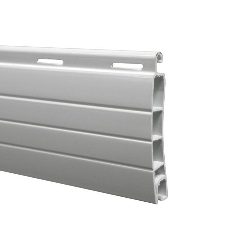 lame pvc double parois 40 mm ajour e blanc pour volet. Black Bedroom Furniture Sets. Home Design Ideas