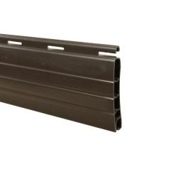 Lame PVC 40 x 8,5 mm ajourée et rainurée 1 face - marron