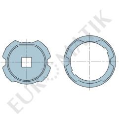 Adaptateur pour moteur Neo Ø 58 mm centre carré 15 mm pour tube ZF80