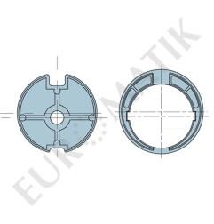 Adaptateur pour moteur Neo Ø 58 mm centre carré 15 mm pour tube rond 78 mm à ogive