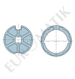 Adaptateur pour moteur Neo Ø 58 mm centre carré 15 mm pour tube rond 78 mm à ogive plate