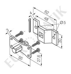 Kit patte + pivot carré 30 mm pour moteur Neo Ø 45 mm