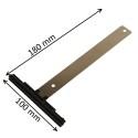 Attache de tablier à visser pour lame de 8 mm