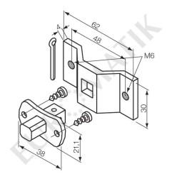 Kit patte + pivot carré 10 mm trous filetés pour moteur  Neo Ø 35 mm