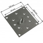 Plaque support 100x100 mm