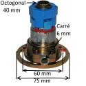 Treuil à pignon conique réversible E:C6 S:OCTO 40