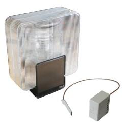 Feu clignotant sans fil solaire avec interface radio