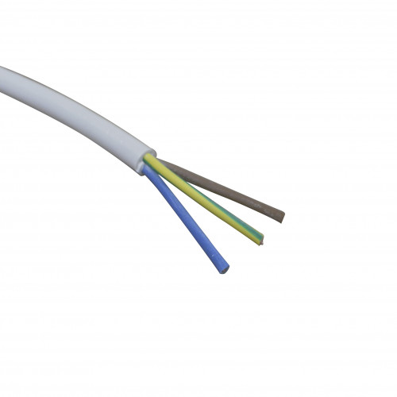 Câble 3 x 1mm² souple blanc - Vendu au mètre