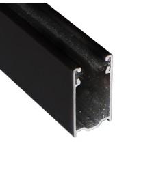 Coulisse TRADI 40x22 mm noir RAL9005 (1 mètre)