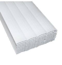 PAQUET DE 20 LAMES PVC   +/- 1 M BLANC (CHUTE)