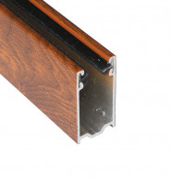 Coulisse TRADI 40x22 mm chêne doré (1 mètre)