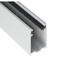 Coulisse TRADI 40x22 mm gris métal RAL9006 (1 mètre)