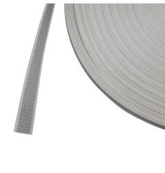 Rouleau de 50 mètres de sangle 18 mm gris et blanc