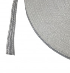 Rouleau de 50 mètres de sangle 20 mm gris et blanc