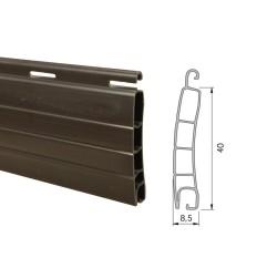 Lame PVC 40mm ajourée - marron (2 mètres)