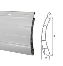 Lame PVC 55 mm ajourée - blanc (2 mètres)