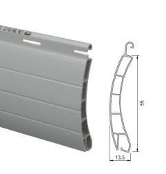 Lame PVC 55 mm ajourée - gris (2 mètres)