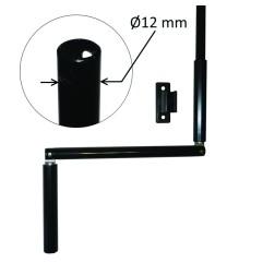 Manivelle Ø12 mm acier laqué noir Lg 1,50 m