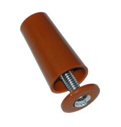 Butée de volet roulant cylindrique 40 mm RAL 8003