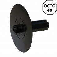 Embout flasque Ø158 mm pour tube octo 40