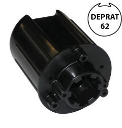 Embout pour tube rond 62 mm avec crabot 27 mm