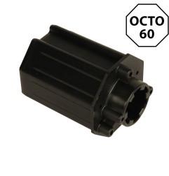 Embout octogonal 60 mm – crabot 27 mm et roulement 28 mm