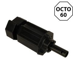 Embout octogonal 60 mm – crabot 27 mm et tige 16 mm
