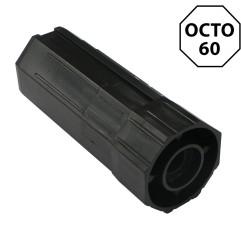 Embout octogonal 60 mm pour roulement 28 mm