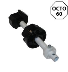 Embout télescopique octogonal 60 mm et tige 16 mm