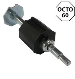 Embout télescopique octogonal 60 mm et tige 12 mm