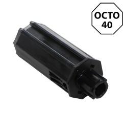 Embout octogonal 40 mm – crabot 22 mm / carré 10 mm
