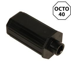 Embout octogonal 40 mm – nez carré 10 mm