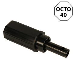 Embout octogonal 40 mm et tige Ø 16 mm