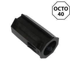 Embout octogonal 40 mm pour roulement 28 mm