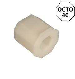 Embout PVC pour tube octogonal 40 mm