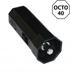 Embout octogonal 40 mm pour poulie – pivot rond 10 mm