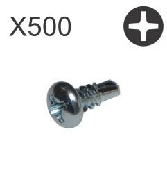 Vis auto perceuses tête cylindrique 9.5X3.5 lot 500 vis