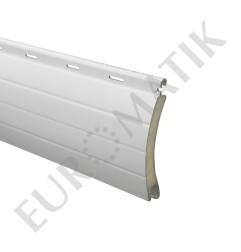 Lame ALU 55 x 13,5 mm ajourée et rainurée 2 faces - blanc (le mètre)