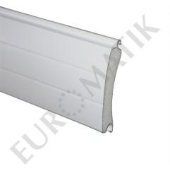 Lame ALU 77 x 20 mm rainurée 2 faces - blanc (2 mètres)