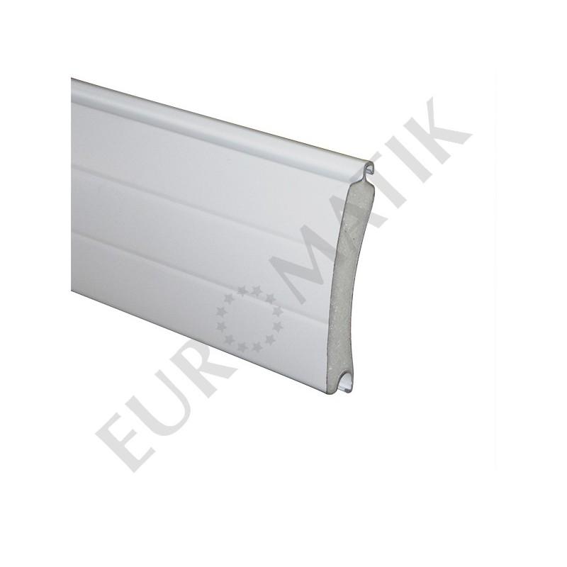 lame alu double parois 77 mm rainur e blanc pour volet. Black Bedroom Furniture Sets. Home Design Ideas