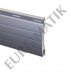 Lame ALU 37 x 8 mm ajourée et rainurée 2 faces - gris métal (2 mètres)