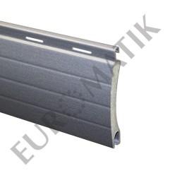 Lame ALU 44 x 8,5 mm ajourée et rainurée 2 faces - gris métal (2 mètres)