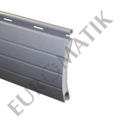 Lame ALU 55 x 13,5 mm ajourée et rainurée 2 faces - gris métal (2 mètres)