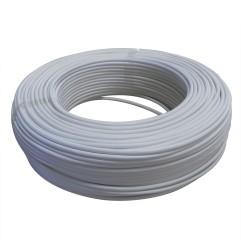 Câble 6x0,22mm² souple blanc - Vendu au mètre