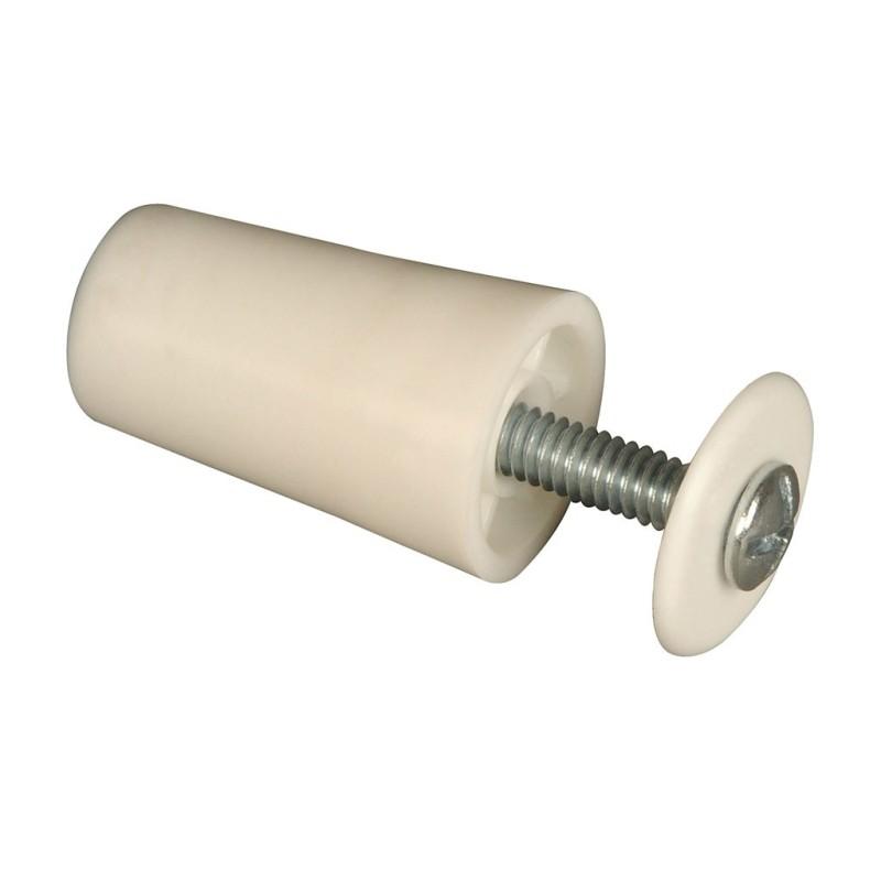 Butée de volet roulant cylindrique 40 mm blanc