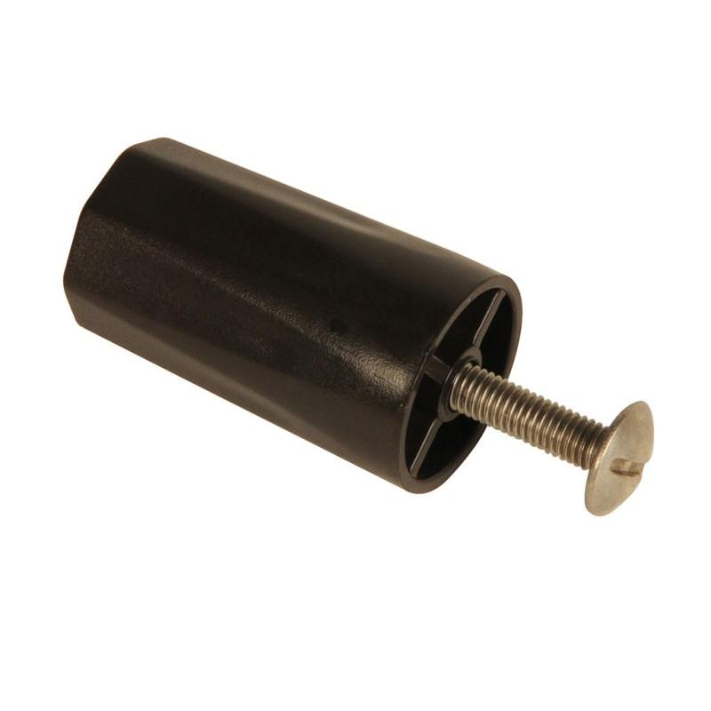 Butée de volet roulant rainurée 40 mm marron