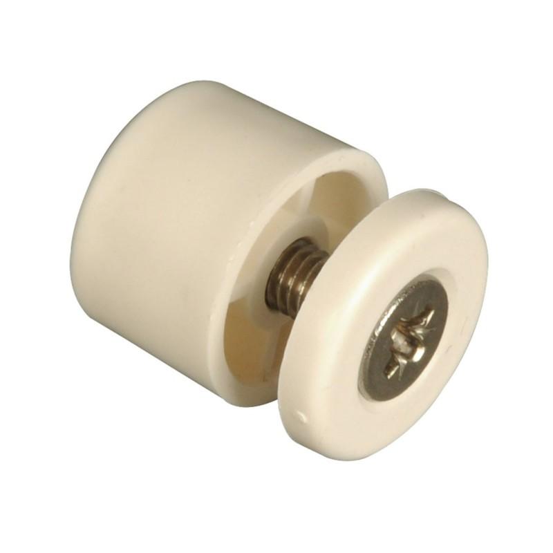 Butée de volet roulant cylindrique 15 mm blanc